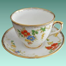 Phoenix China England Cup and Saucer No 619N  Bright Flowers