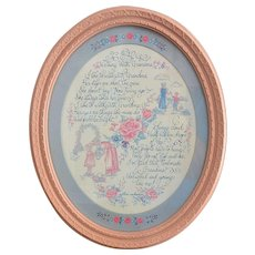 """Walking with Grandma"" Sonnet by Homco Inc. Framed Wall Hanger"