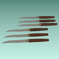 Six Steak Knives Wavecrest by Regent Sheffield England