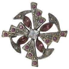 Celtic Styled Pin with Lavender Rhinestones