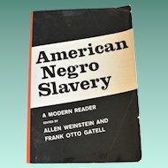 "Book ""American Negro Slavery""  History of Slavery in America"