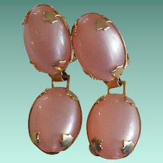 Pretty Pink Moonglow Thermoset Dangle Earrings