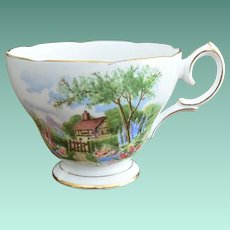 "Queen Anne England Bone China Tea Cup ""Tudor Cottage"""
