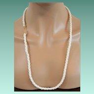 Marvella Long Faux Pearls Weave Torsade Necklace