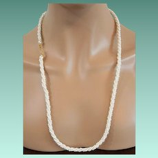 Marvella Long Faux Pearls Torsade Necklace