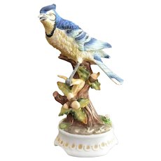 Blue Jay Bird Musical Figurine by Towle