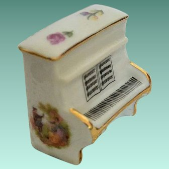 Decorated Limoges Miniature Piano