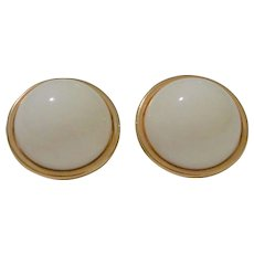 """Sarah Coventry """"Anything Goes"""" Dome Clip Earrings"""