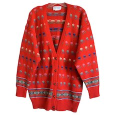 Deans of Scotland Shetland Wool Cardigan Size X-Large