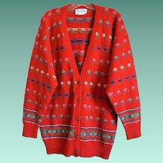 Deans of Scotland Shetland Wool Cardigan Size X-Large
