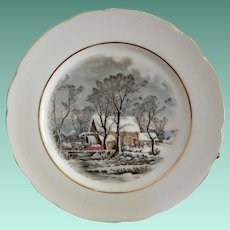 Exclusive 1977 Avon Winter Scene Display Plate