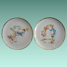Two 8.0 Inch Norman Rockwell  Young Love Display Plates