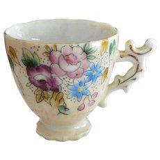 Demitasse Pink Floral Tea Cup
