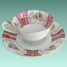 Plum Pink Demi Tasse Cup and Saucer Set