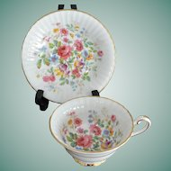 """Paragon """"Queens Garden"""" By Appointment to HM Queen Elizabeth Tea Cup and Saucer"""