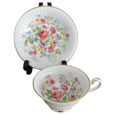 "Paragon ""Queens Garden"" By Appointment to HM Queen Elizabeth Tea Cup and Saucer"