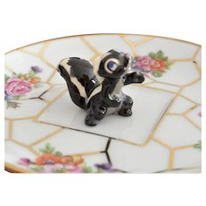 Miniature Skunk Porcelain Figurine
