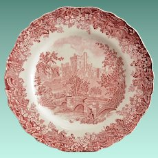 J & G Meakin Romantic England Red Dinner Plate
