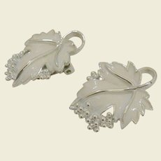 """""""Whispering Leaves"""" 1959 Signed Sarah Coventry Clip Earrings"""