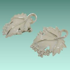 """Whispering Leaves"" 1959 Signed Sarah Coventry Clip Earrings"