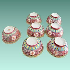 Chinese Long Life Medallions 10.0 Ounce Rice Bowls