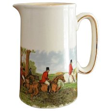 English Fox Hunt Scene Earthenware Tankard