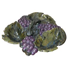 Arnel's Ceramic Molds 1963 Art Pottery Grapes Theme Snack Serving Tray