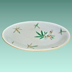 """Noritake No. 5027 """"Canton"""" Bamboo Motif 16.0 inch Oval Platter Mint Condition"""