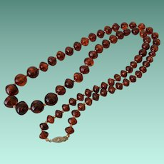 38.0 Inch Root Beer Bicone Beads Necklace