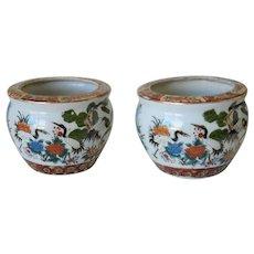 Satsuma Style Chinese Planter Pots