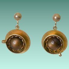 "1958 ""Coffee Break"" SAC Clip Earrings"