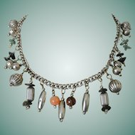 Vintage Gypsy Style Dangling Charms Necklace