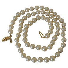 Classic Marvella Faux Pearls Necklace 24.0 Inches