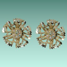 "Sarah Coventry ""Allusion"" 1968 Clip Earrings"