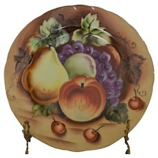 Lefton Heritage Brown Porcelain NE 562 Dessert/Pie Plate - Fruit