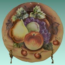 Lefton Heritage Brown Porcelain NE 562 Dessert/Pie Plate - Fruit