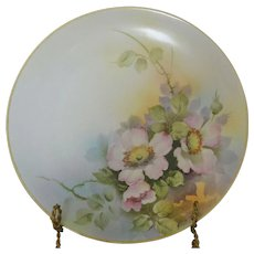 Morimura Nippon Early Century Porcelain Plate Pink Dogwood Flowers