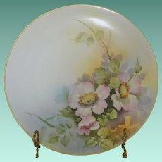 Morimura Nippon Early Century Porcelain Plate Pink Dogwood Flowers