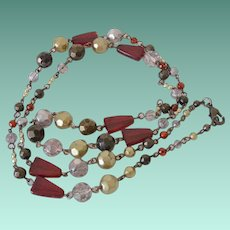 Vintage Glass Specialty Beads Boho Style Necklace