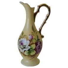 Lefton Heritage Brown Floral Bud Vase  2763N