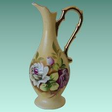 Lefton Heritage Brown Floral Bud Vase  2763N