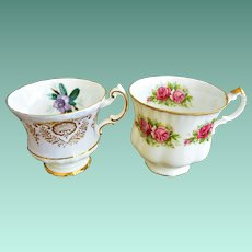 Two Paragon By Appointment to HM The Queen English Tea Cups