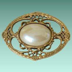 1928 Company Victorian Revival Faux Pearl Pin
