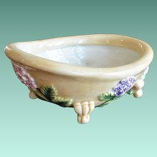 Fitz and Floyd Soap Dish Bathtub and Flowers Theme
