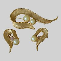"""Sarah Coventry """"Symphony"""" 1964 Pin and Earrings Set"""