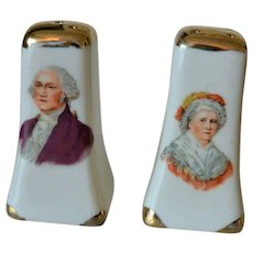 George and Martha Washington Souvenir Salt & Pepper Shakers