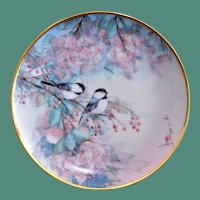 "Franklin Mint J. Cheng ""Song of the Cherry Blossom"" Limited Edition Display Plate"
