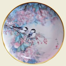 """Franklin Mint J. Cheng """"Song of the Cherry Blossom"""" Limited Edition Display Plate"""