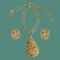 """""""Sultana"""" 1959 Mid Century Modern Sarah Coventry Necklace Earrings Set"""