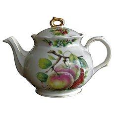 Sadler England Fruit Pattern  Teapot 40.0 Ounce